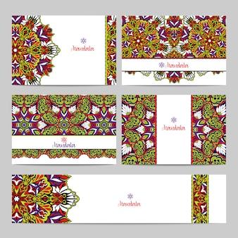Mandala banner set