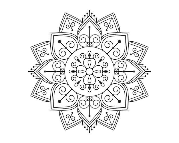 Mandala beauty ornament vector icon illustration design