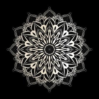 Mandala on black and white