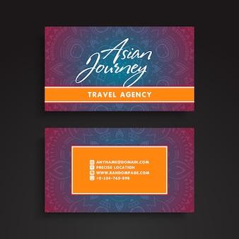 Mandala business card in asian style