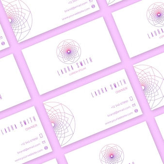 Концепция визитной карточки мандалы