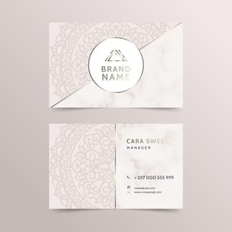 Mandala business card template concept