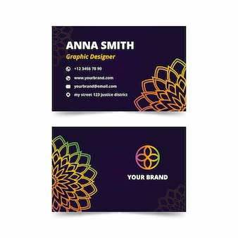 Mandala business card template design