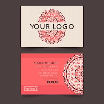 Mandala business card template set