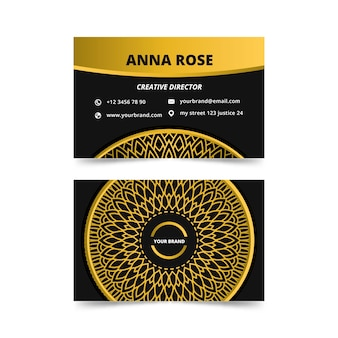 Mandala business card template theme