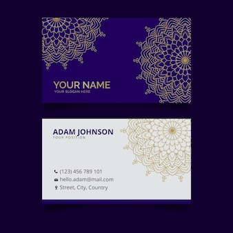 Mandala business card template theme
