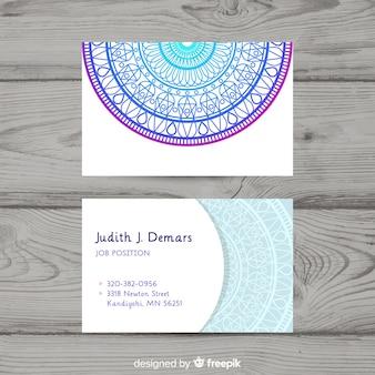 Шаблон визитной карточки mandala