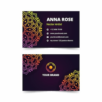 Mandala business card template