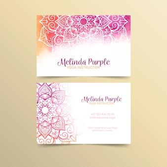 Mandala business card template