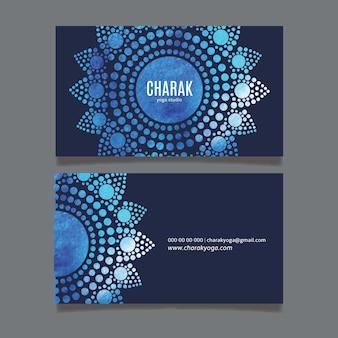 Мандала шаблон визитной карточки