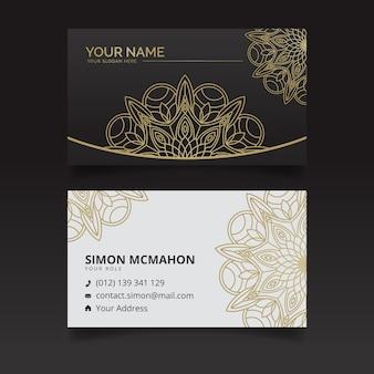 Mandala business card