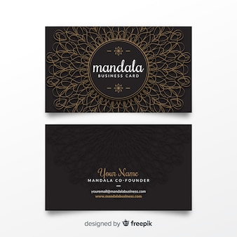Mandala bussines card template