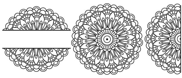 Mandala circular for henna, mehndi, tattoo, decoration.