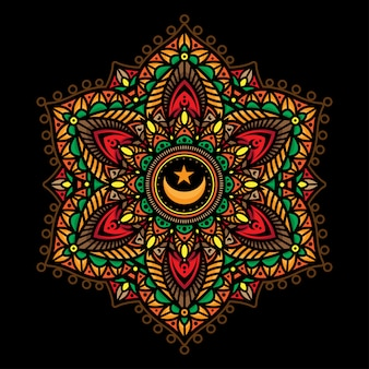 Mandala color tattoos