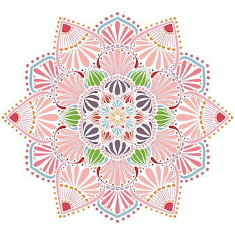Mandala colored, oriental therapy