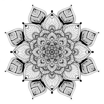 Мандала раскраска, восточная терапия йога каракули