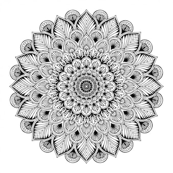 Mandala coloring book, oriental therapy yoga doodle