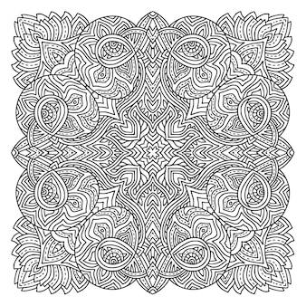 マンダラぬりえページカーペットデザイン