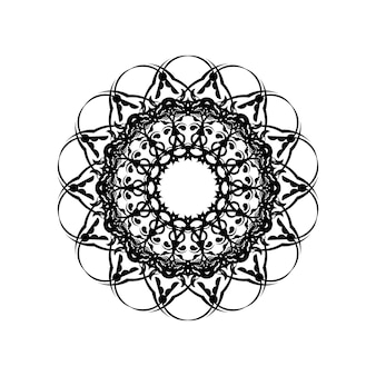 Mandala coloring book. wallpaper design, tile pattern, shirt, greeting card, sticker, lace pattern and tattoo. decoration for interior design. vector ethnic oriental circle ornament. white background