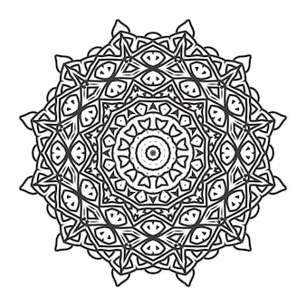 Mandala coloring book with ornament style