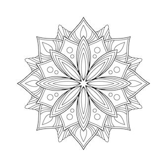 Мандала книжка-раскраска. арабская мандала.