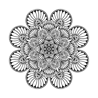 Mandala coloring page, oriental therapy