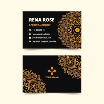 Mandala concept for business card template