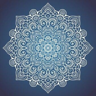Mandala on a dark blue background