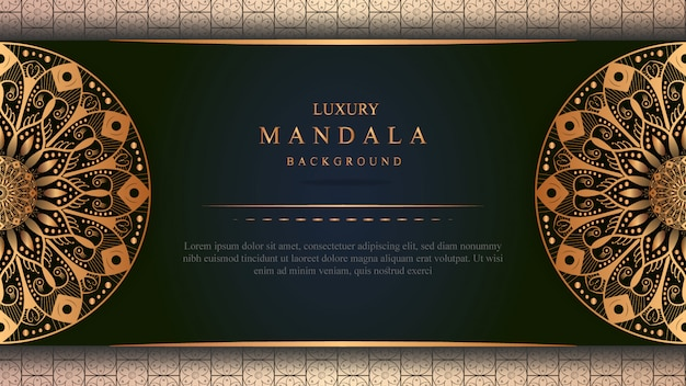 Mandala decoration, luxury arabic or indian background design