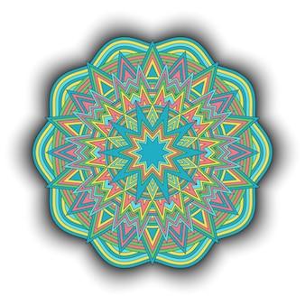 만다라. 장식 라운드 장식 패턴입니다. 빈티지 기하학적 요소입니다.