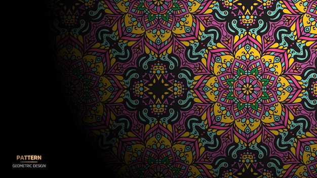 Мандала дизайн фон для йоги, медитации