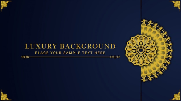 Mandala design background template luxury template