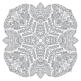 Мандала дизайн. страница книжки-раскраски