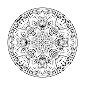 Mandala design for coloring page adult