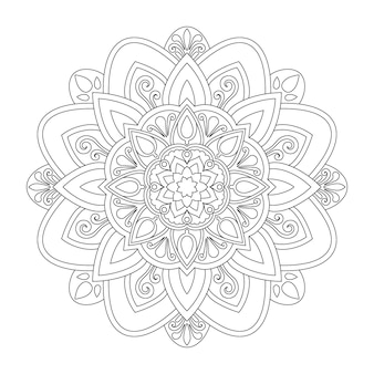Mandala design for coloring page