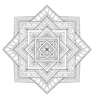 Mandala design decoration. coloring book adult