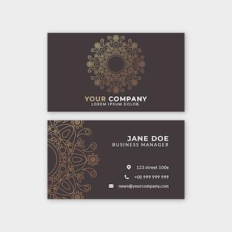 Мандала дизайн шаблона визитной карточки