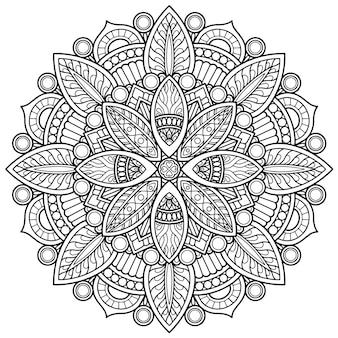 Дизайн мандалы для раскраски