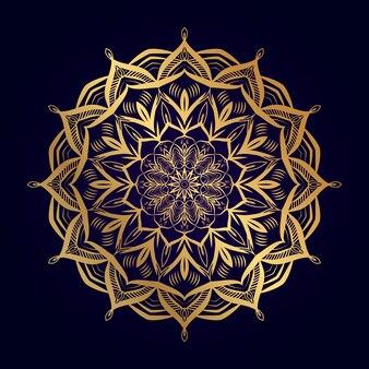 Мандала дизайн на золотой взгляд