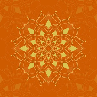 Mandala design on orange color