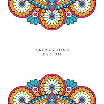 Mandala design on white blank background