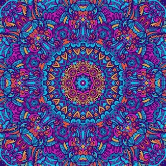 Mandala doodle fantasy flower decorated background