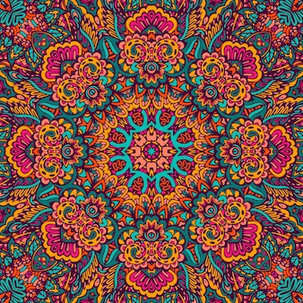 Мандала каракули фантазия цветок оформленный фон