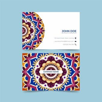 Мандала элегантный шаблон визитной карточки