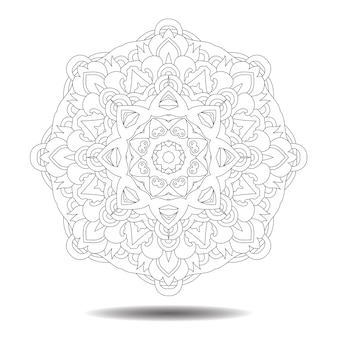 マンダラ要素。対称zentangleイラスト