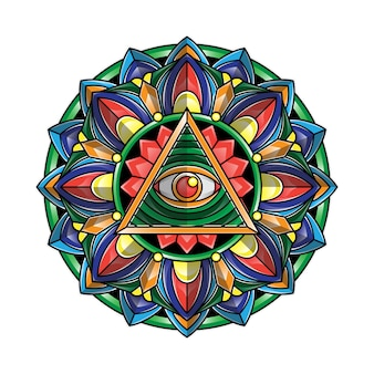 Mandala eye art