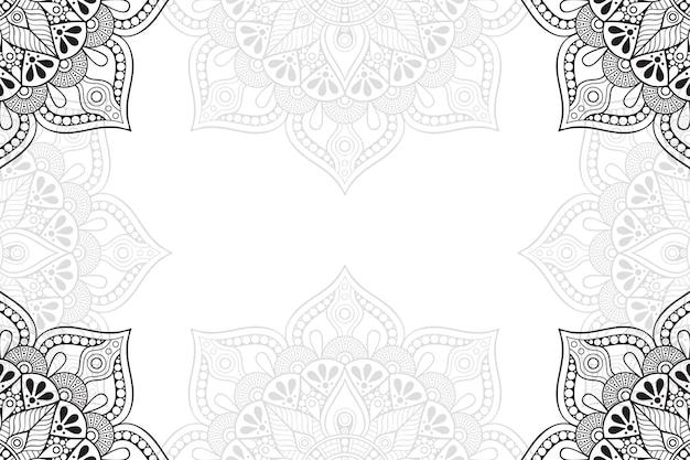 Мандала цветочный орнамент фон