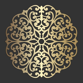 Mandala flower beautiful vector vintage decorative element oriental illustration. laser cut coaster design.