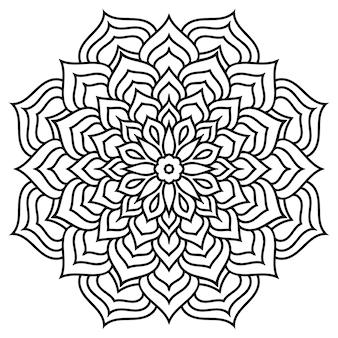 Раскраска цветок мандалы. цветочные кружева. этнический дизайн.