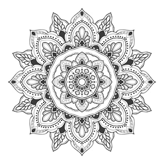 Mandala flower illustration for multiple purpose